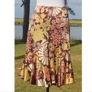 Trina Turk silk Alina floral skirt